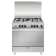 Glem U855vi Approach kitchen cm. 80 x 50 - stainless steel 5 burners - 1 gas oven Unica