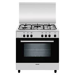 Glem A855ei Approach kitchen cm. 80 x 50 - stainless steel 5 burners - 1 electric oven Alpha