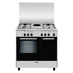 Glem Ar856ei Kitchen cm. 80 x 50 - inox 4 fires - electric plate - electric oven - bottle holder Alpha