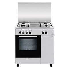 Glem As854ei Approach kitchen cm. 80 x 50 - 4 burner stainless steel - 1 electric oven - cupboard Alpha