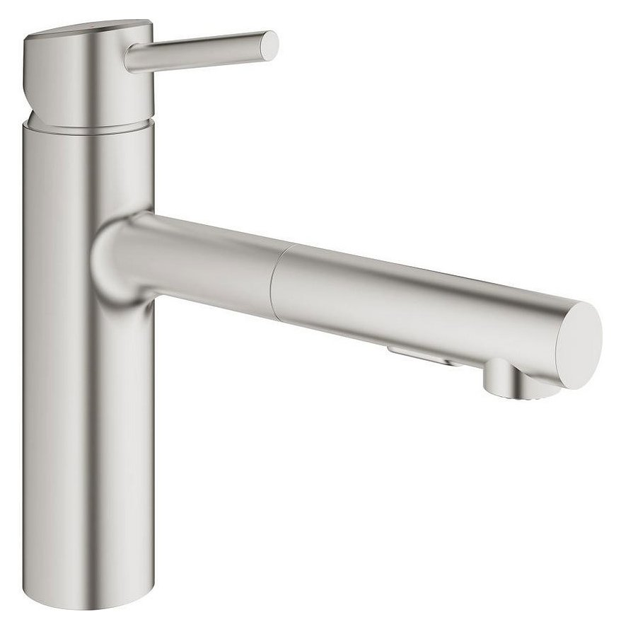 Grohe 30273dc1 Concetto Single Level Kitchen Mixer With Shower Super Steel Vieffetrade