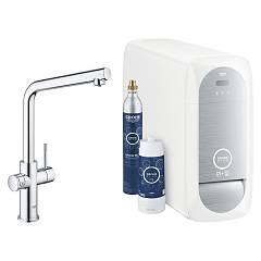 Grohe 31 454 000 Kitchen mixer with water filtering system - chrome Blue Home