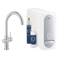Grohe 31455dc0 - Grohe Blue Home Kitchen mixer tap with filter system-water - satin finish Blue Home