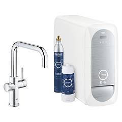 Grohe 31 456 000 Kitchen mixer with water filtering system - chrome Blue Home