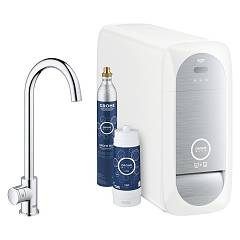 Grohe 31 498 000 Dishwasher kitchen only filtered water - chrome Blue Home