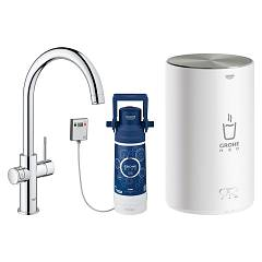 sale Grohe 30083001 - Grohe Red Mixer Instant Boiling Water Chrome - Plated Boiler Size M