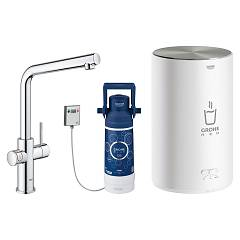 sale Grohe 30327001 - Grohe Red Mixer Instant Boiling Water Chrome - Plated Boiler Size M