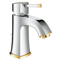 Grohe 23303ig0 Washbasin mixer - chrome-gold with exhaust in saltarello Grandera