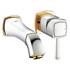Grohe 19 929 Ig0 Wall-mounted sink mixer - chrome-gold Grandera
