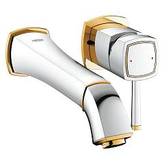 Grohe 19 930 Ig0 Wall-mounted sink mixer - chrome-gold sporgenza 234 mm Grandera