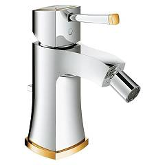 Grohe 23 315 Ig0 Bidet mixer - chrome-gold with saltarello discharge Grandera