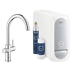 Grohe 31455001 Sink tap with water-chrome filtering system Blue Home