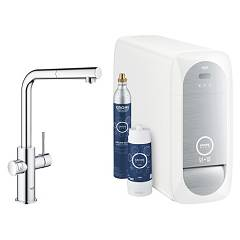 Grohe 31539000 Sink tap with water-chrome filtering system Blue Home