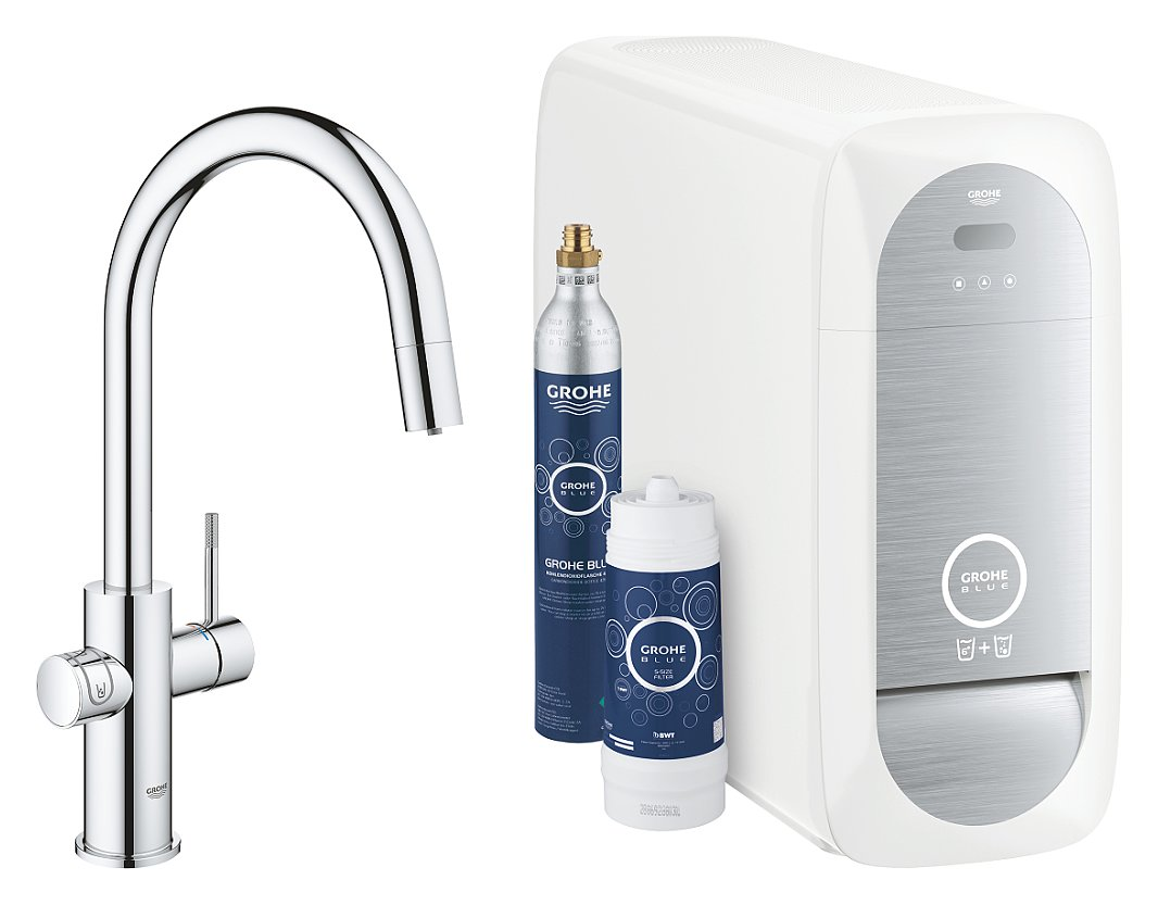 Photos 1: Grohe 31541000 Blue Home Sink tap with water-chrome filtering system