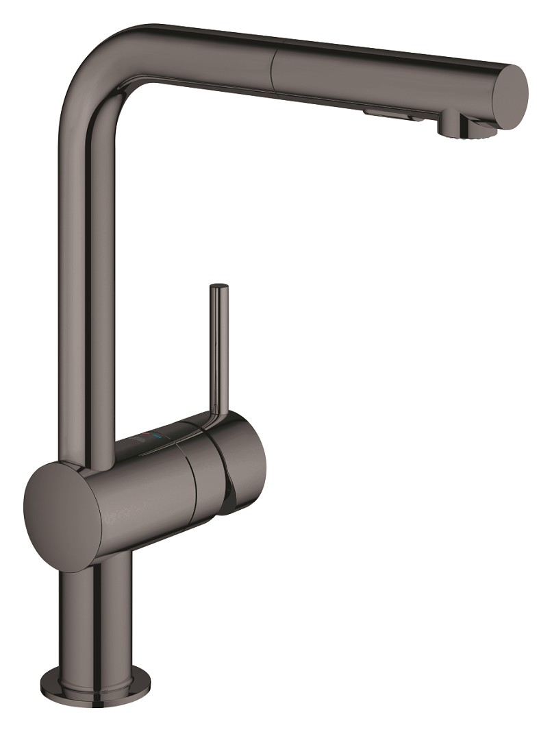 Grohe 30274ao0 Minta Kitchen Mixer With Hand Shower Graphite