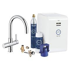 Grohe 31323001 - Grohe Blue Chilled + Kitchen mixer tap with filtering system water - chrome single-control Blue Professional