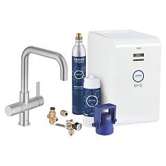 Grohe 31 324 Dc1 Kitchen mixer with water filtering system - super steel monocomando Blue Professional