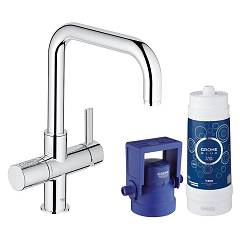 Grohe 31 299 001 Kitchen mixer with water filtering system - single-lever chrome Blue Pure