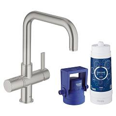 Grohe 31299dc1 - Grohe Blue Pure Kitchen mixer tap with filtering system water - super steel single-control Blue Pure
