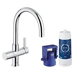 Grohe 33 249 001 Kitchen mixer with water filtering system - single-lever chrome Blue Pure