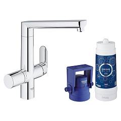 Grohe 31 344 001 Kitchen mixer with water filtering system - single-lever chrome Blue K7
