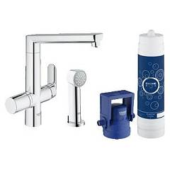 Grohe 31354001 - Grohe Blue K7 Kitchen mixer tap with hand shower with filter system water - chrome single-control Blue K7