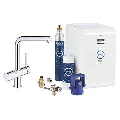 Grohe 31347002 - Grohe Blue Minta Kitchen mixer tap with filtering system water - chrome single-control Blue Professional