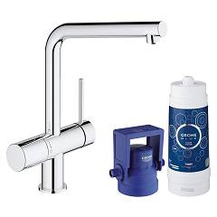 Grohe 31 345 002 Kitchen mixer with water filtering system - single-lever chrome Blue Pure