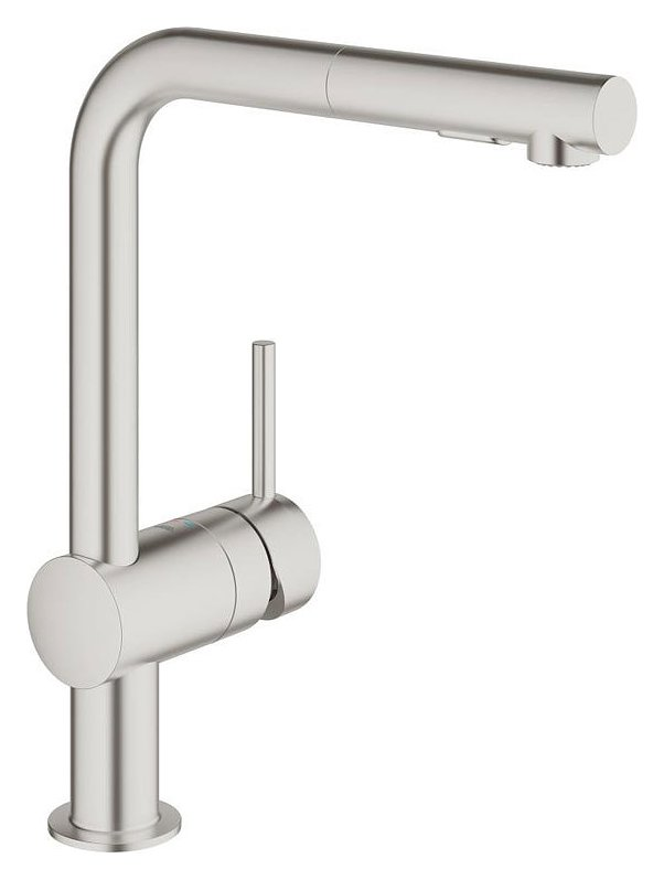 White Kitchen Mixer Tap grohe 30274dc0 - minta kitchen mixer tap with docceta - super