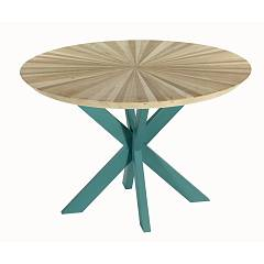 Guarnieri Aneto 120 x 120 round table - inlaid wood top with natural wood structure | lacquered wood