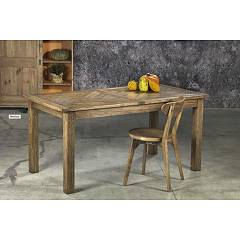 Guarnieri Carciofo Table extensible en vieux orme 162 x 76 x 85