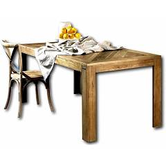 Guarnieri Pioppo Table 180 x 78 x 90 in old elm - inlaid top