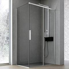 Hafro Time Corner box cm. 140 x 80 extensibility 137.5 - 139.5 x 77.5 - 79.5 1 sliding door + fixed side h 200