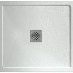 Hafro 5ffd3n0 Shower tray with border cm. 100 x 100 square - stone effect Forma Frame