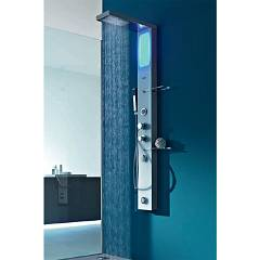 sale Hafro Brill Plus - 4bia2n0 Shower Column Cm. 155 X 16 - Steel And Glass