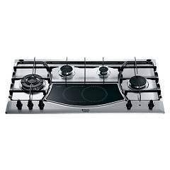 sale Hotpoint Ariston Ph 941mstv (ix)/ha Hob Built-cm. 90 - Inox 4 Burner + Radiant Plate