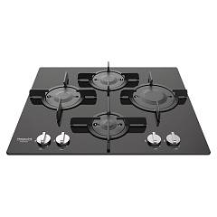 Hotpoint Ariston Ftghg 641 D/ha(bk) Table de cuisson à gaz à encastrer 60 cm - verre noir
