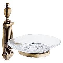 sale Ibb Ro01c - Royal Soap Dish In Metal And Crystal