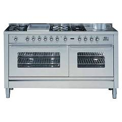 Ilve P-150 Kitchen from accosto cm. 150 6 fires + pescera + barbecue + 1 gas oven + 1 electric oven Professional Plus Hi Tech