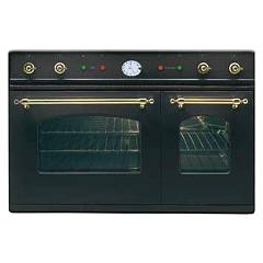 sale Ilve D900ne3 - Nostalgie Oven-double In-line Cm. 90 - In Stainless Steel Or Colored