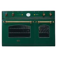 sale Ilve D900nce3 - Nostalgie Country Oven-double In-line Cm. 90 - In Stainless Steel Or Colored