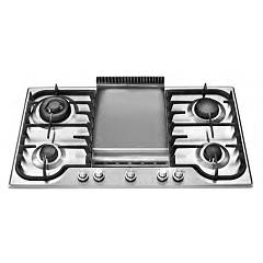 sale Ilve Hcb90fcv - Tradition Hob Built-cm. 85 - Stainless Steel Or Coloured With Fry Top