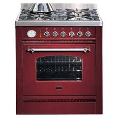 Ilve P70nvg Kitchen from accosto cm. 70 4 fires + 1 gas oven Nostalgie