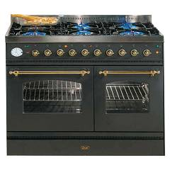 Ilve Pd100fnmp Kitchen from accosto cm. 100 4 fires + fry top + 1 electric oven + mini electric oven Nostalgie
