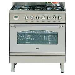 Ilve Pn80ce3 Kitchen from accosto cm. 80 5 fires + 1 electric oven Nostalgie Professional Plus