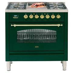 Ilve Pn90bvg Kitchen from accosto cm. 90 4 fires + barbecue + 1 gas oven Nostalgie Professional Plus