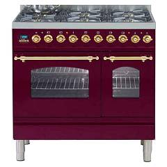Ilve Pdn90vg Kitchen from accosto cm. 90 5 fires + pescera + 1 gas oven + 1 electric oven Nostalgie Professional Plus