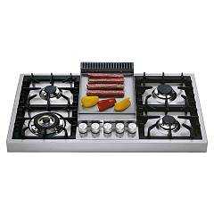 Ilve Hap95f Countertop gas hob cm. 90 with fry top plate - stainless steel Professional Plus