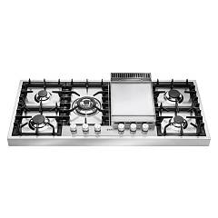 Ilve Hap125f Countertop gas hob cm. 120 with fry top plate - stainless steel Professional Plus
