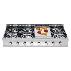 Ilve Hp120 Gas hob cm. 120 free standing - stainless steel Professional Plus